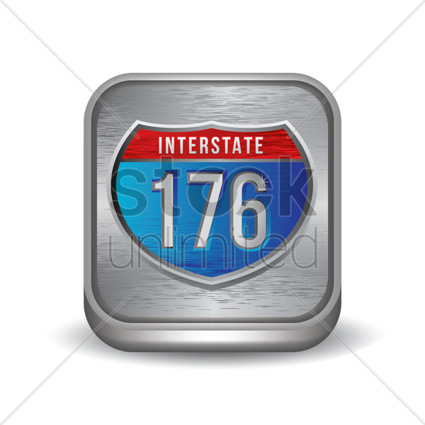 interstate 176 route sign vector graphic