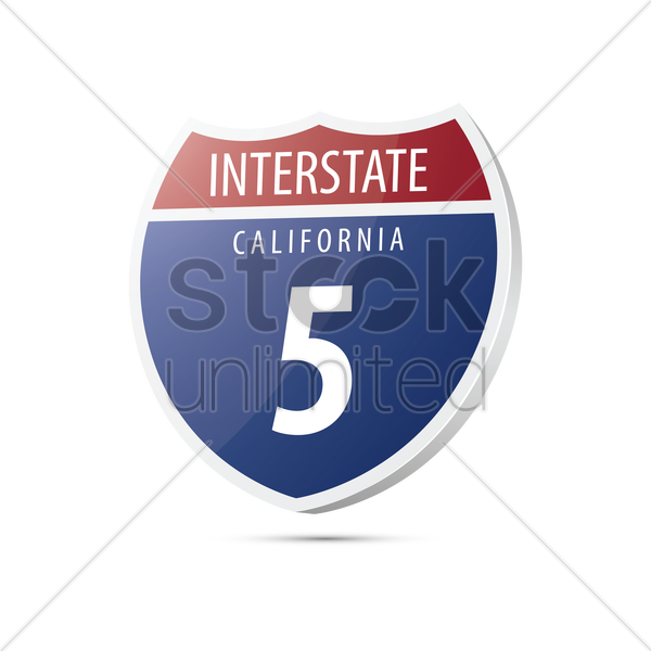 interstate california route sign vector graphic
