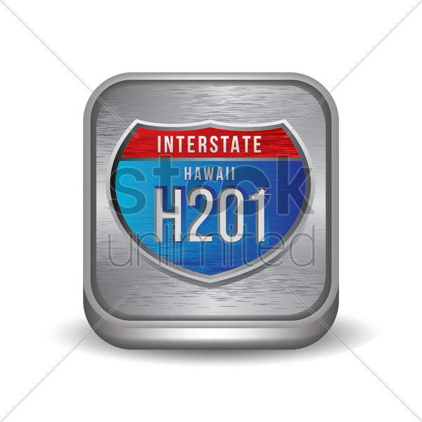 interstate hawaii h201 sign vector graphic