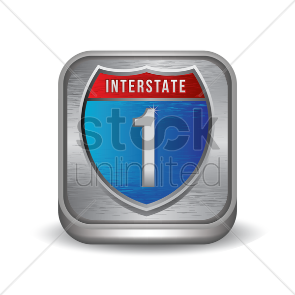 interstate route sign vector graphic