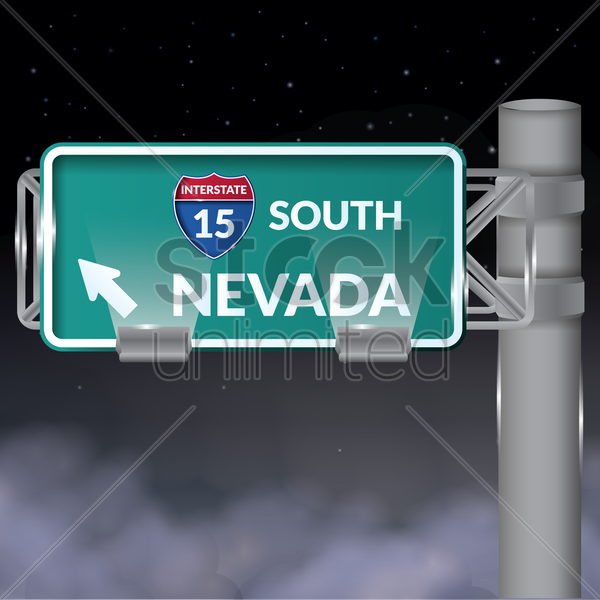 interstate south nevada signboard vector graphic