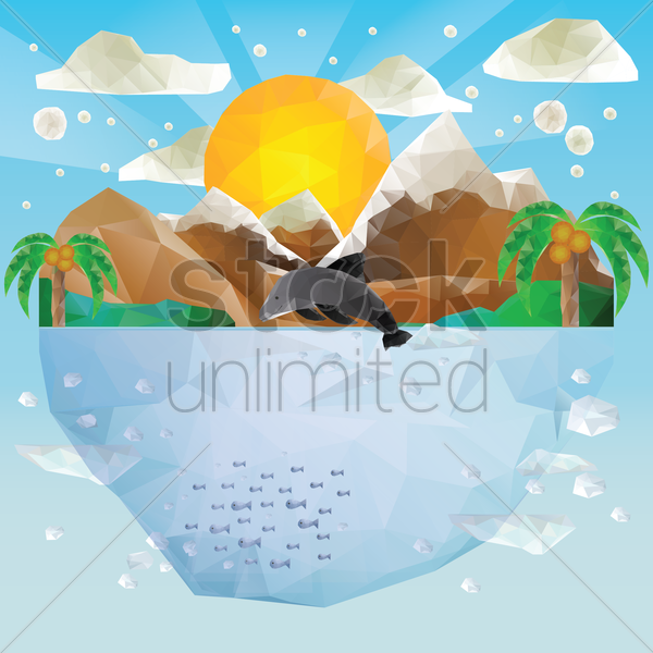 island vector graphic