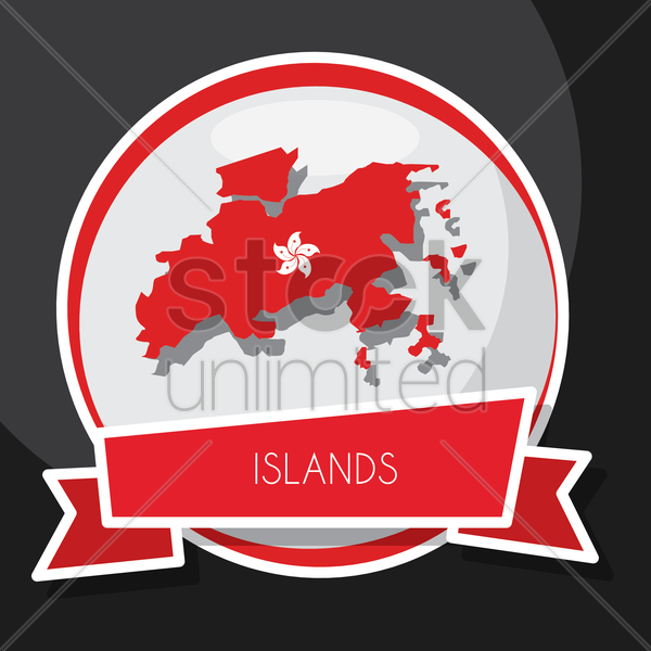 islands map vector graphic