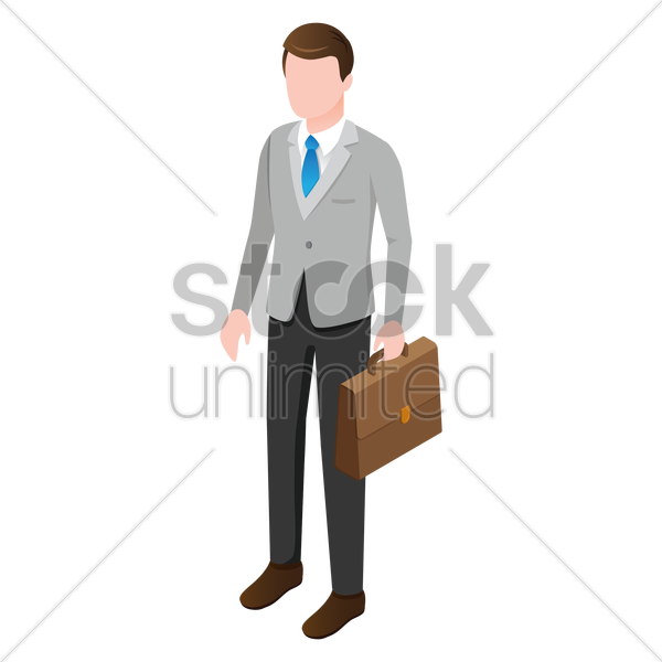 isometric business man vector graphic