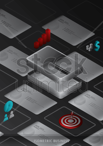 isometric business vector graphic