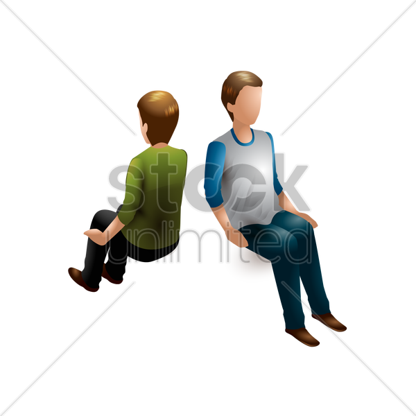 isometric men vector graphic