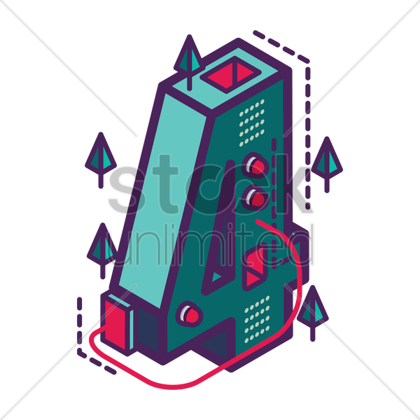 isometric number 4 vector graphic