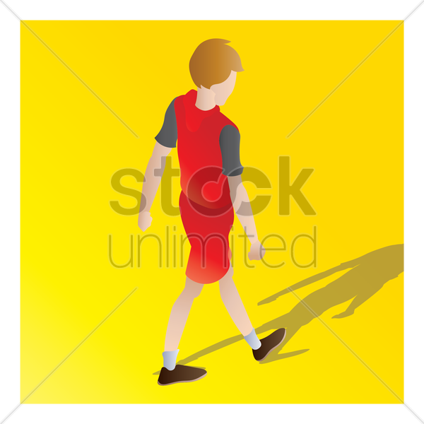 isometric of a boy vector graphic