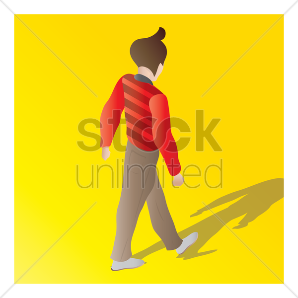 isometric of a man vector graphic
