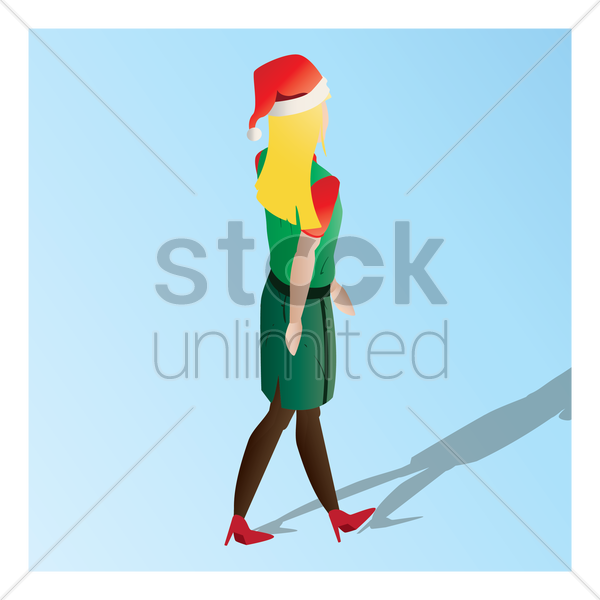 isometric of a supermarket female staff vector graphic