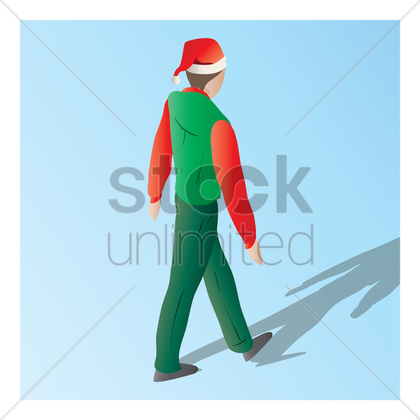 isometric of a supermarket male staff vector graphic