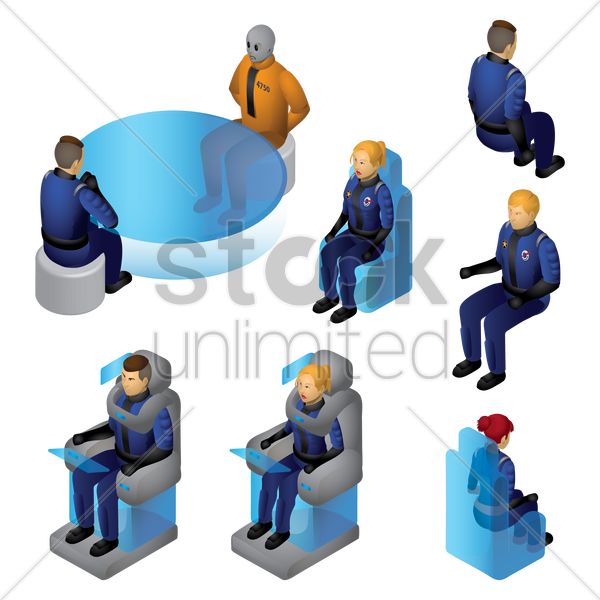 isometric people vector graphic