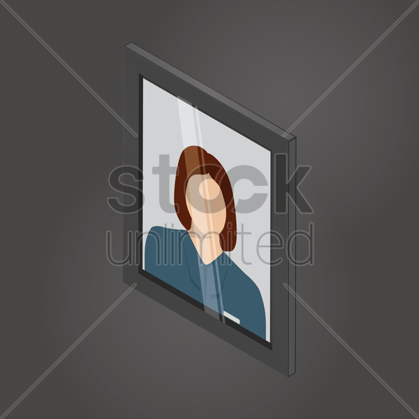 isometric photo frame vector graphic