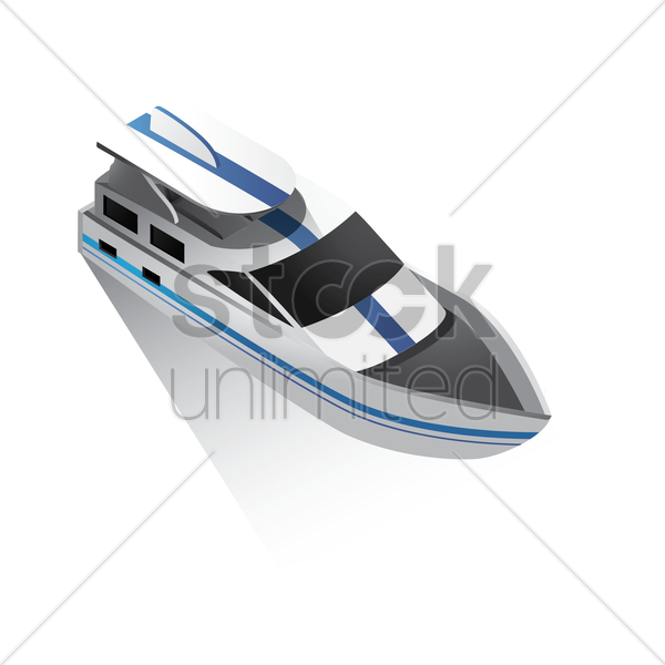 isometric yacht vector graphic