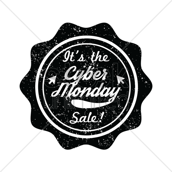 it's the cyber monday sale label vector graphic