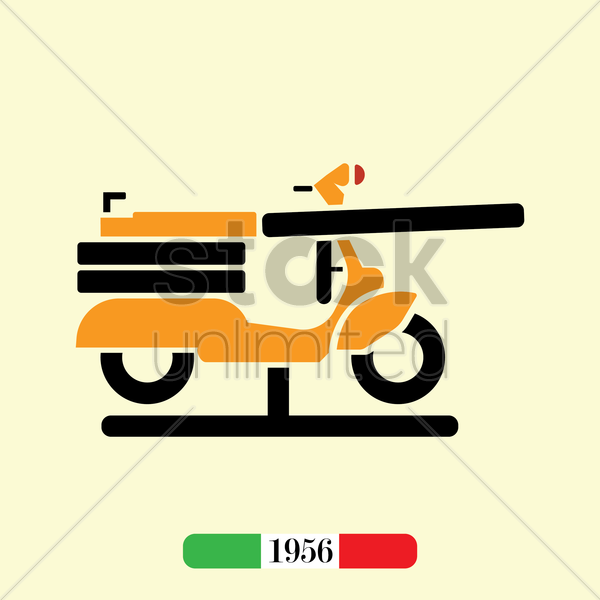 italian 1956 scooter vector graphic
