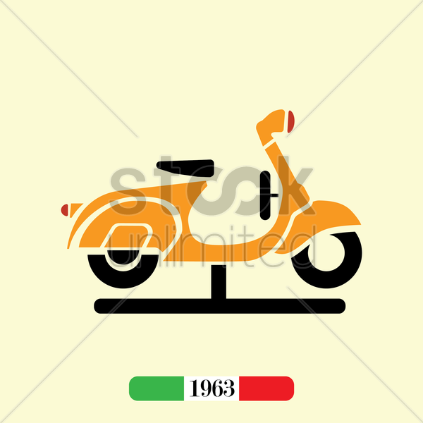 italian 1963 scooter vector graphic