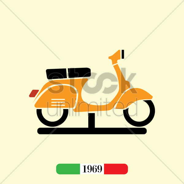 italian 1969 scooter vector graphic