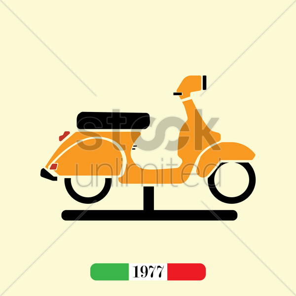 italian 1977 scooter vector graphic