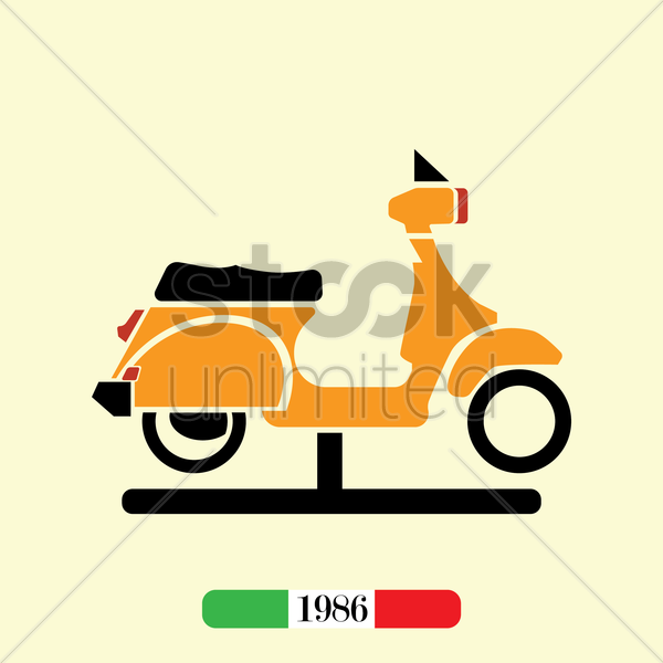 italian 1986 scooter vector graphic