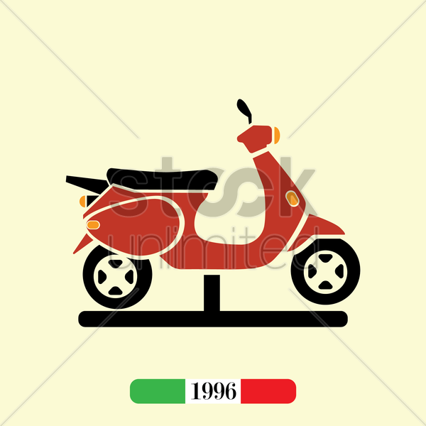 italian 1996 scooter vector graphic