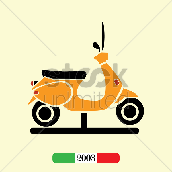 italian 2003 scooter vector graphic