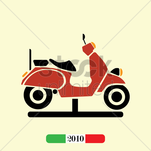 italian 2010 scooter vector graphic