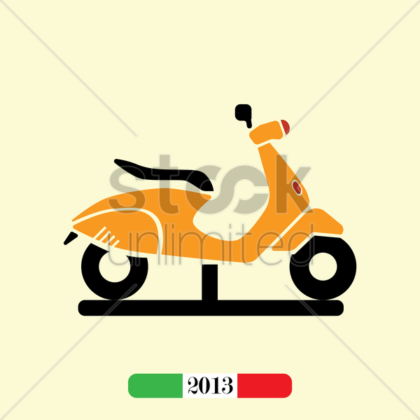 italian 2013 scooter vector graphic