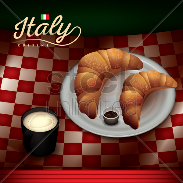italian cuisine vector graphic