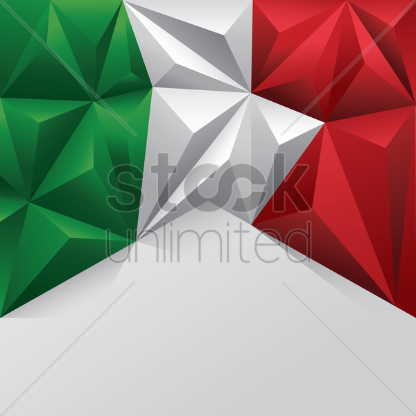 italian flag template vector graphic