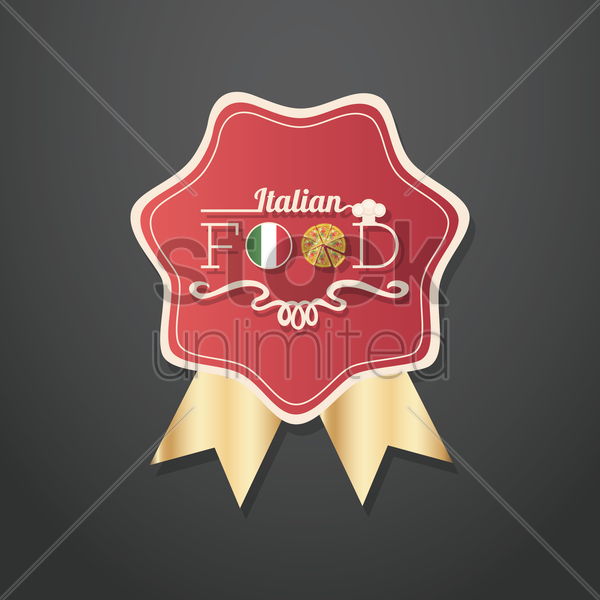 italian food labels vector graphic