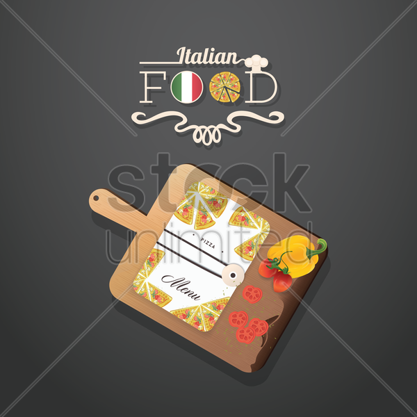 italian food vector graphic