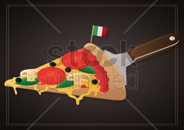 italian pizza vector graphic