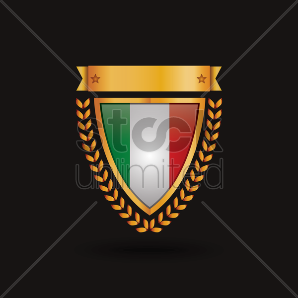 italy flag badge vector graphic