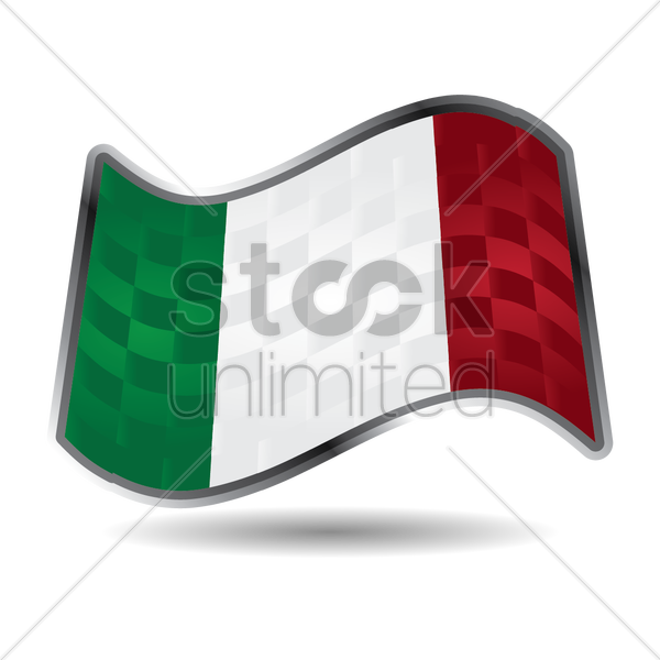 italy flag vector graphic