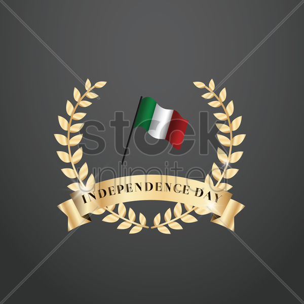 italy independence badge vector graphic