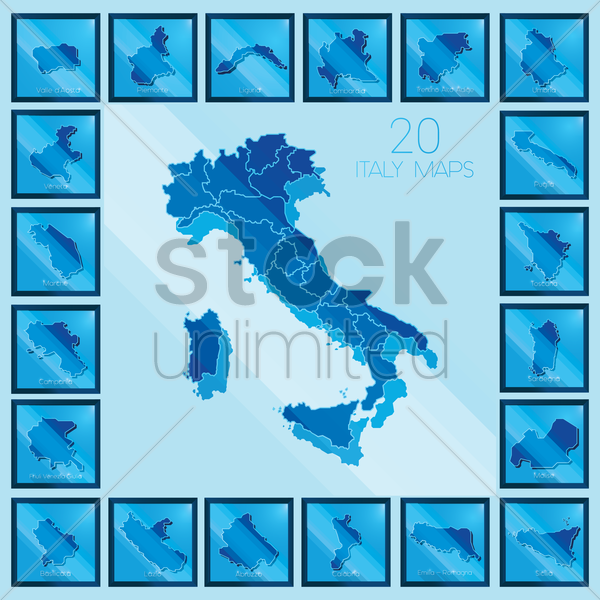italy maps vector graphic