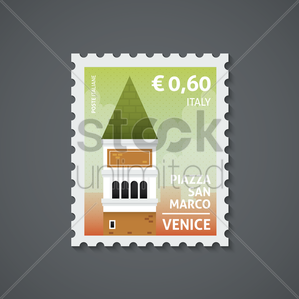 Free italy postage stamp vector graphic