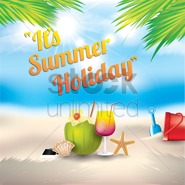 its summer holiday vector graphic