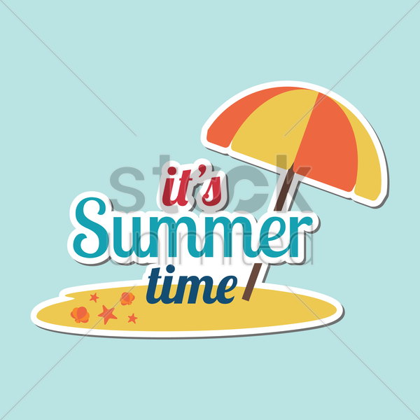 its summer time vector graphic