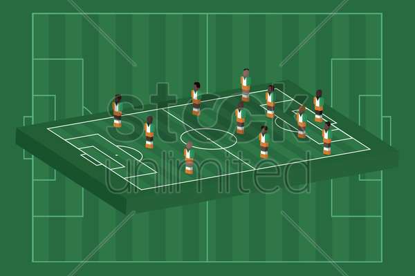 ivory coast team formation vector graphic