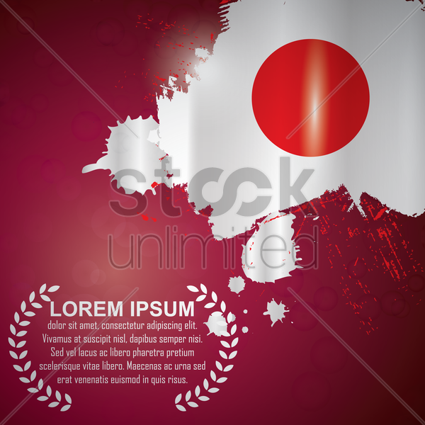 japan flag design vector graphic
