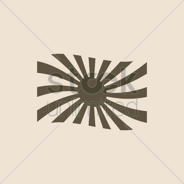 japan flag icon vector graphic