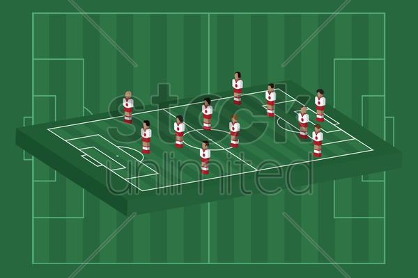 japan team formation vector graphic