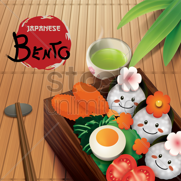 japanese bento vector graphic