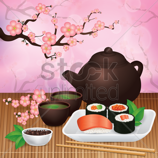 japanese food vector graphic
