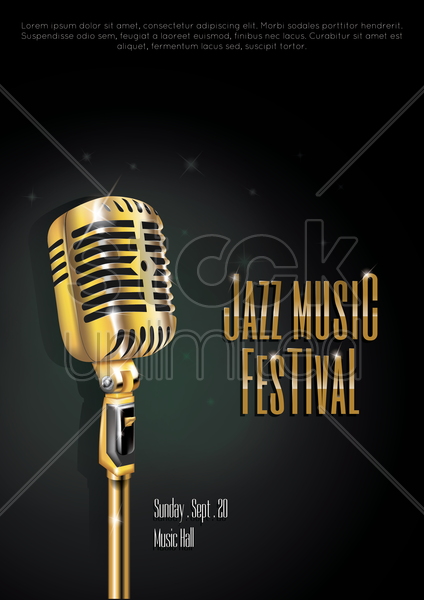 jazz music festival poster vector graphic