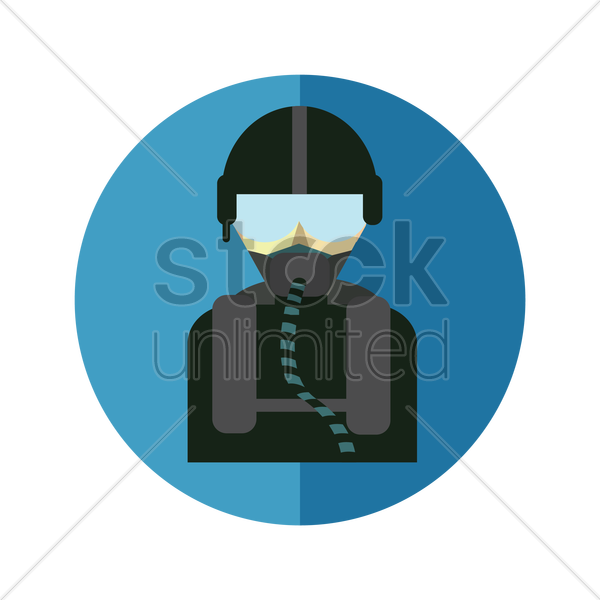 jet pilot vector graphic
