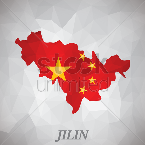 jilin map vector graphic