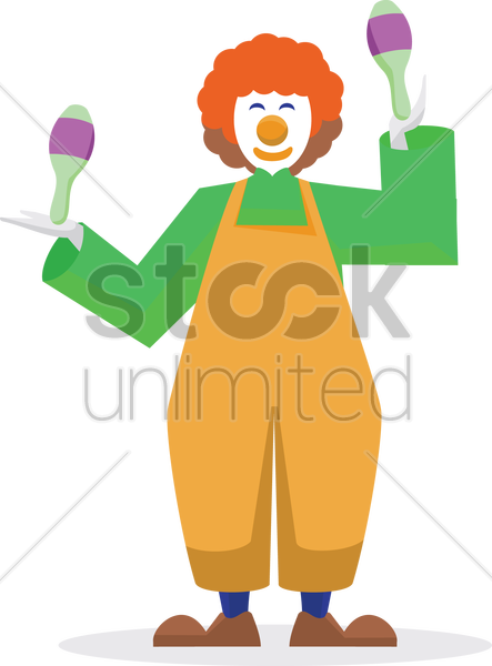 Free joker with maracas vector graphic